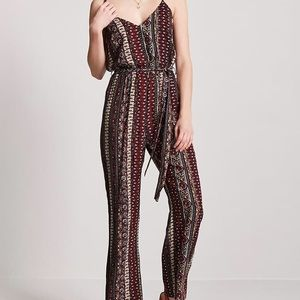 Forever 21 Ornate Print Jumpsuit